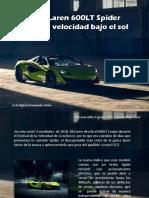 Iván Rafael Hernández Dalas - McLaren 600LT Spider 2019, velocidad bajo el sol