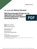IEEE Std 944 Aplicacion y Ensayo de UPS