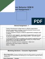 Consumer Behaviour_SEM III_ Internal Assignment 1