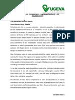 Gasto Publico vs Derechos Fundamentales de Los Colombianos