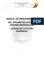 Manual de Procedimientos Del Organo de Control Interno Municipal 2019