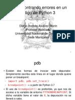 08 - Encontrando Errores en Un Codigo de Python 3