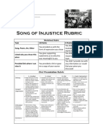 Song of Injustice Rubric