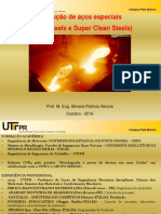 Palestra UTFPR Processos Fundição Aços Limpos Silvana Verona