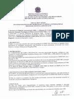 Edital 05.2019 Dupla Diplomação IPB