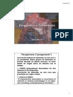 5ªa Clase - Paragénesis - Zonamiento