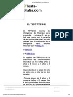 El Test Wppsi-III Definiciones