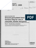 Specifications for Ground Granulated Blast Furnace Slag for Use in Concrete, Mortar & Grout