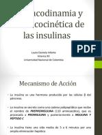 Farmacodinamia y Farmacocinética de Las Insulinas