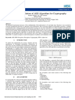Design and Simulation of AES Algorithm for Cryptography