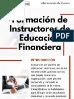 Curso Formación de Instructores de Educación Financiera