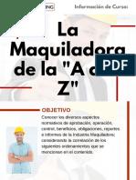 """Curso La Maquiladora de la """"A a la Z"""""""