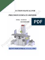 Kent USA KGS818 1020AH AHD Operation Manual