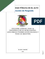 Esquema General de Monografias Tesinas y Tesis 2016 01