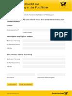 Dp Postvollmacht Briefabholung 201801