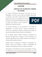 analisis 2  DECLARACION AMAERCICANA DE LOS DERECHO Y DEBERES DEL  HOMBRE.docx
