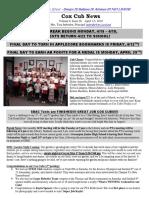 Cox News Volume 8 Issue 26