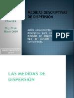 CLASE 4 Medidas de Dispersión