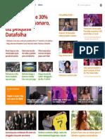 G1 32% Aprovam e 30% Reprovam Governo de Bolsonaro