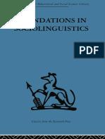 Fundations in sociolinguistics (preview)
