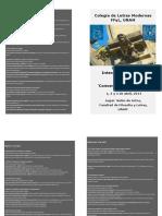 Coloquio Gótico 2014 (Programa de Mano)