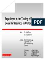 Food Contact Packaging Testing