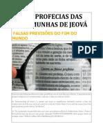 FALSAS PROFECIAS DAS TESTEMUNHAS DE JEOVÁ.docx