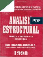Análisis Estructural; Teoría Y Problemas Resueltos - Biaggio Arbulu G..pdf