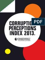 2013 Corruption Index