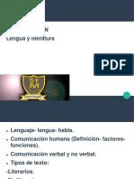 ppt introducción 7° y 8° Lengua y Literatura