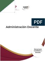 Manual Administración Docente