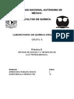 Práctica 6. Orgánica III