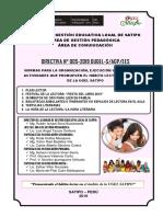 DIRECTIVA N°005 2019 PROMOVIENDO EL HÁBITO LECTOR EN LA UGEL SATIPO