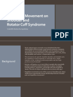 Rotator cuff syndrome and repetitive movement