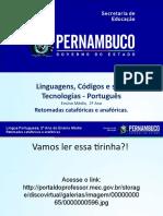 Retomadas Catafóricas e Anafóricas.