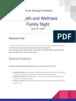 FINAL DRAFT Health and Wellness Family Night