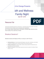 FINAL DRAFT Health and Wellness Family Night