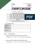 5. Incomplete Report (TL) Aplication ECD728