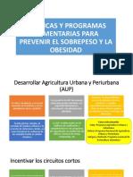 Políticas y Programas Alimentarias Para Prevenir El Sobrepeso