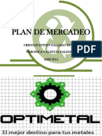 Plan de Mercadeo Optimetal
