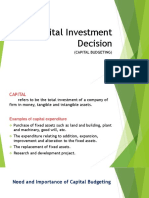 Capital Investment Decision