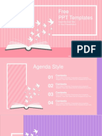 Opened Book With Paper Cranes PowerPoint Templates