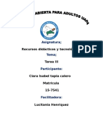 Tarea III Recursos Didactico y Tecnologico