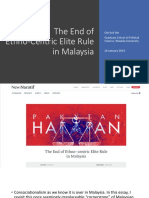 Presentation- End of Ethno-centric Elite Rule in Malaysia