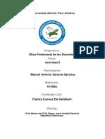 Tarea 5 de Etica Professional de Los Docentes