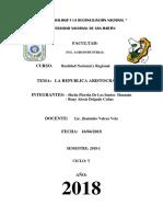 Tema  REPÚBLICA ARISTOCRÁTICA . Grupo sheila y Ronny.docx