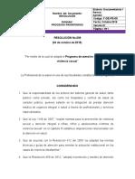 001. RESOLUCION 009 ATENCIÓN A VÍCTIMAS DE VIOLENCIA SEXUAL 19OCT2018 - DMD.doc