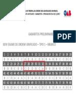 XXIV EXAME UNIFICADO – GABARITO