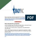 BradyPac - I Need Your Help.