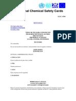 MSDS Bentonita Instituto Nacional de Seguridad e Higiene en El Trabajo
